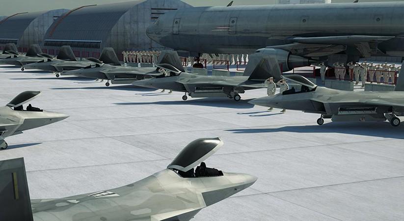 Jets at a base
