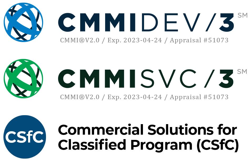 Certifications - CMMI, CSfC
