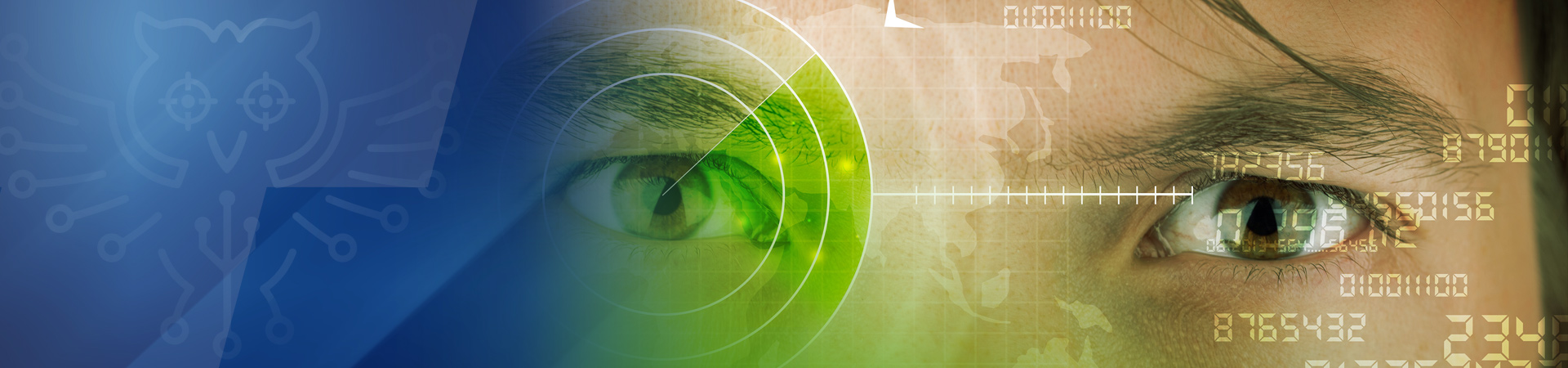 eye with green target