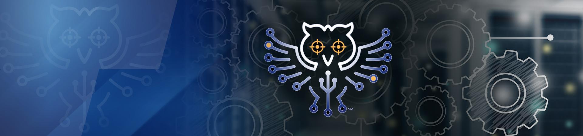 Technica Innovation owl on lab background